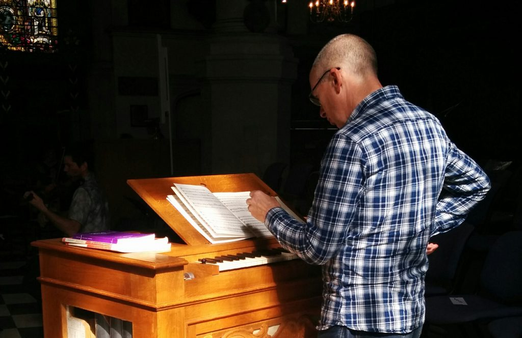 Nicholas Houghton with his Goetze and Gwynn Chamber Organ